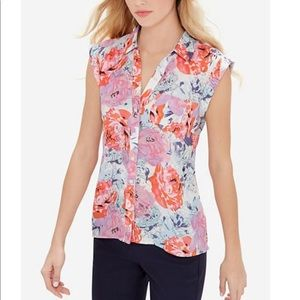 The Limited Ashton short sleeve floral blouse